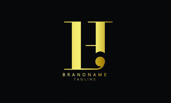 Alphabet letters Initials Monogram logo LH, HL, L and H