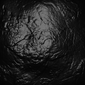 Black rubber texture. Textured uneven dark rubber close-up.