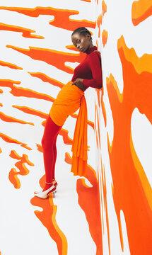 Orange And White Fashion.