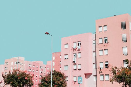 Pastel Pink Buildings