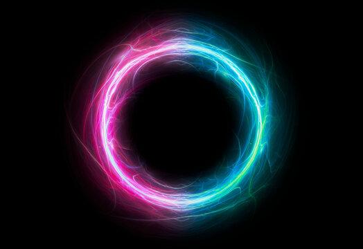 Neon circular lightning, plasma element