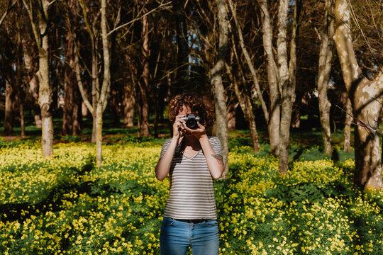 in a clover field