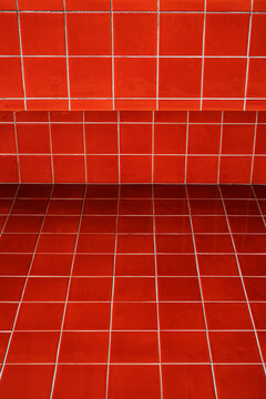 red Portuguese tiles