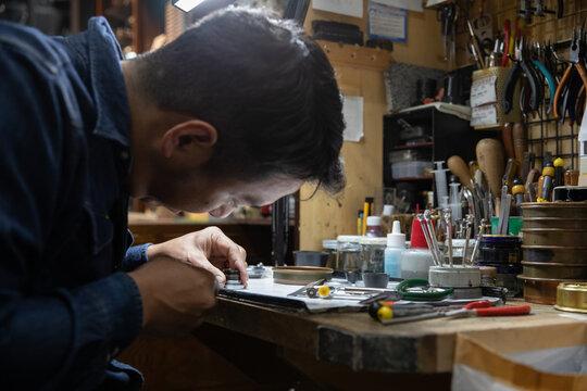 Classic camera repair work shop