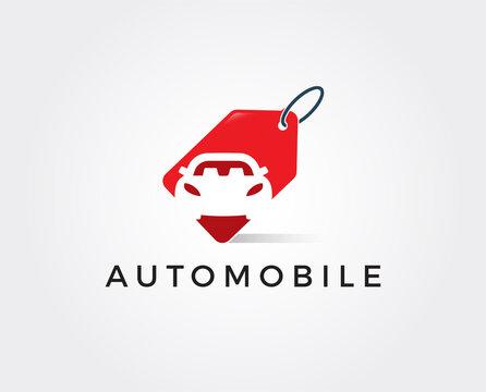 minimal car deal logo template - vector illustration