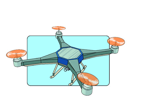 illustration of a Drone in vector