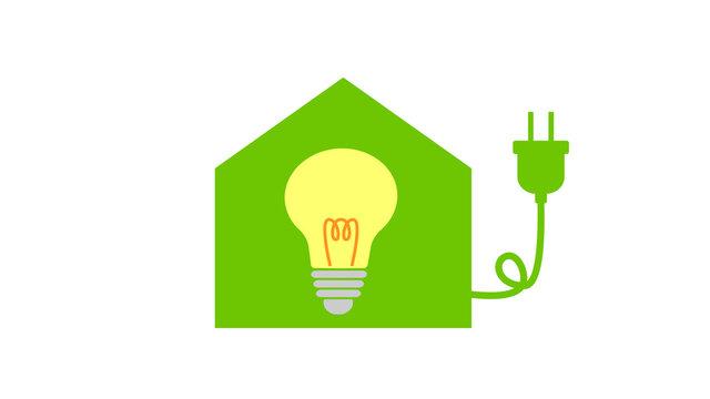 電力自由化と家計にやさしい電力会社を選ぶイメージのイラスト