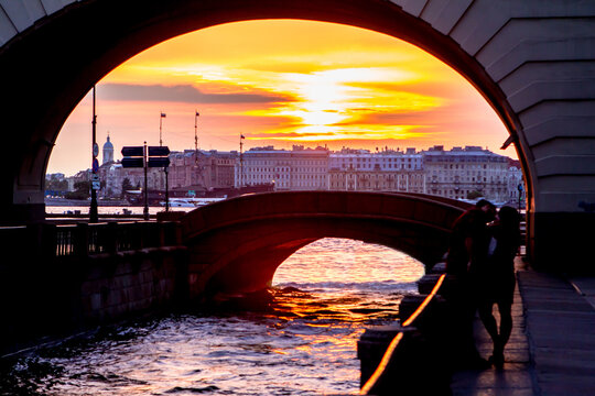 The Arch over the Winter Canal, Saint Petersburg
