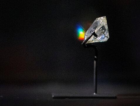 The Banjarmasin Diamond is displayed at the Rijksmuseum in Amsterdam