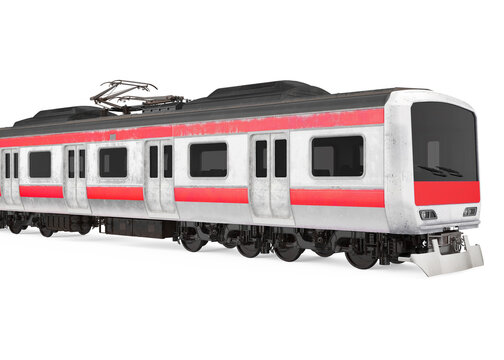 Commuter Train Isolated