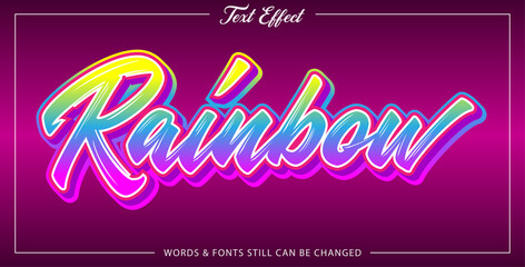 Wall Mural - Font effect style rainbow