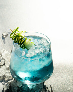 Blue Butterfly Pea Flower Cocktails - Salima's Kitchen - Food Photography
