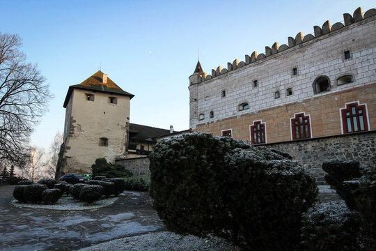 Zvolen castle view by winter, Slovakia