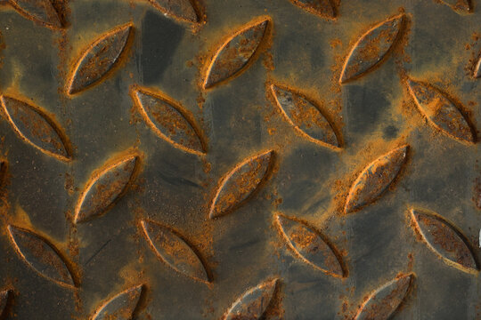 Rusted steel wall background