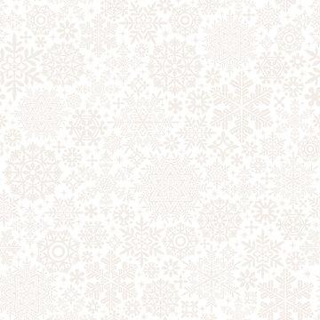 真っ白な雪の結晶とドイリーの背景 ウィンターセール