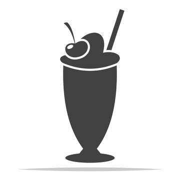 Milkshake icon vector isolated illustration