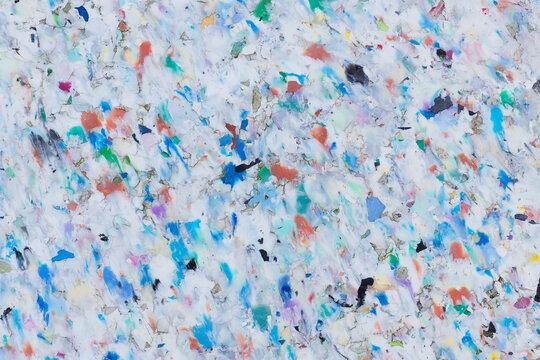 Bunte Recycling-Plastik-Platte: Oberflächenstruktur