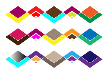 Noise, glitch concept abstract colorful vector illustration. Random rectangles, squares mosaic, tessellation geometric background element, pattern and texture Wall mural