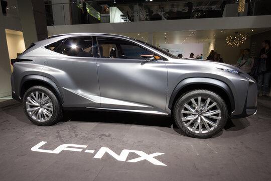Lexus LF-NX shown at the IAA 2013. FRANKFURT, GERMANY - SEP 20, 2013.