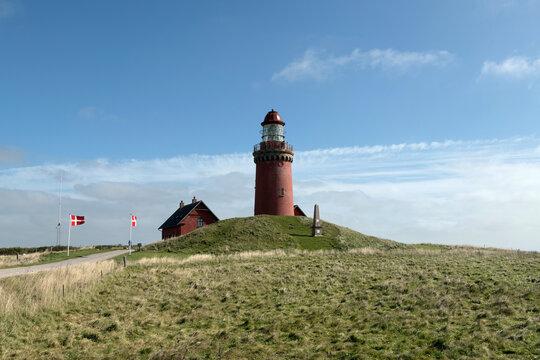 Bovbjerg Leuchtturm. Jütland, Dänemark