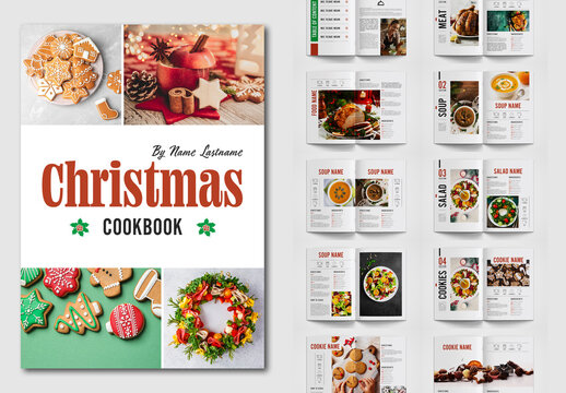 Christmas Cookbook Layout