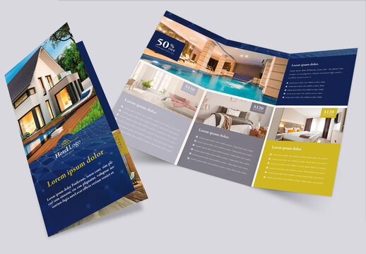 Luxury Hotel Brochure Trifold Layout