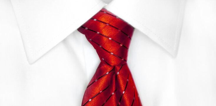 White Shirt Red Tie
