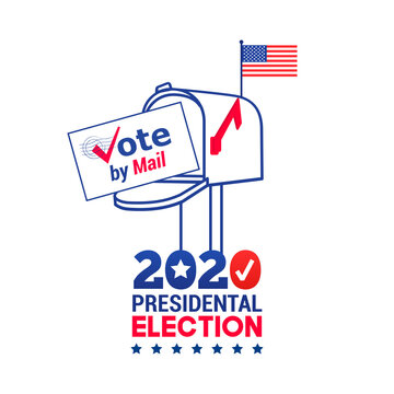 US 2020 Presidential Election Vote by mail logo Vector illustration