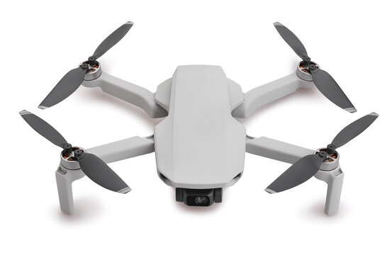 drone path isolated on white