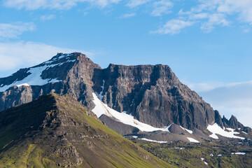 Dyrfjoll mountains in Borgarfjordur Eystri in Iceland