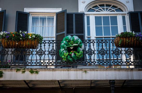 St Patricks Day Decoration on Balcony