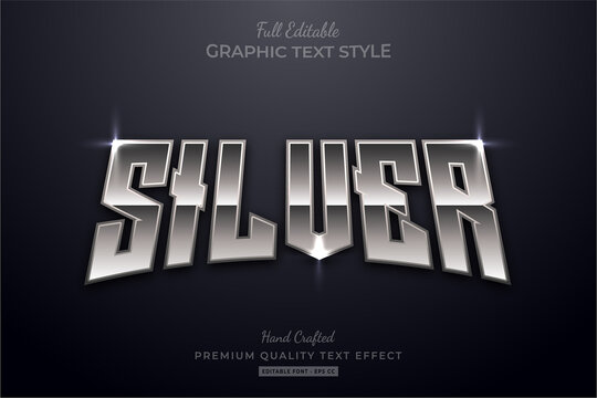 Silver Shine Editable Premium Text Style Effect