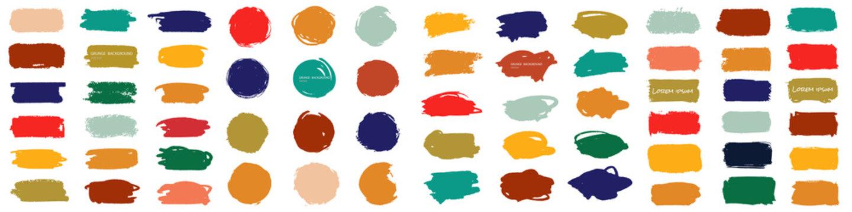 Splash banners set. Colorful paint stroke. Vector