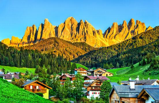 View of Santa Maddalena village - the Dolomites, South Tyrol, Italy