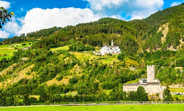 Furstenburg Castle and Marienberg Abbey in Burgeis - South Tyrol, Italy