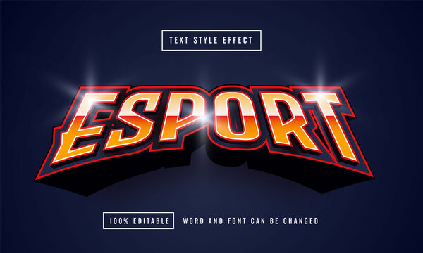 Esport Red font Text effect editable premium free downloa