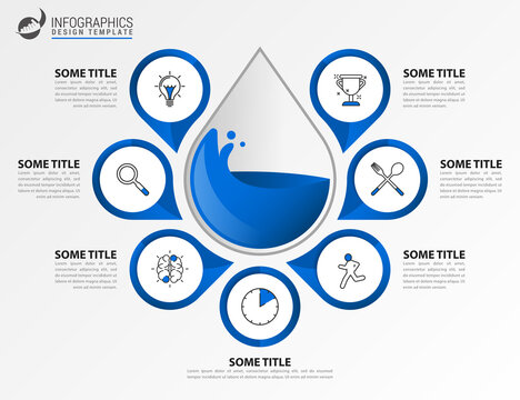 Infographic design template. Creative concept with 7 steps