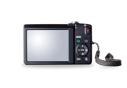 Digitalkamera isoliert auf weiß