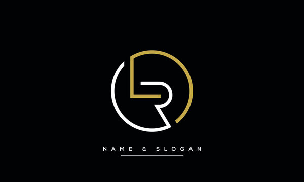 LR, RL Abstract Letters logo Monogram
