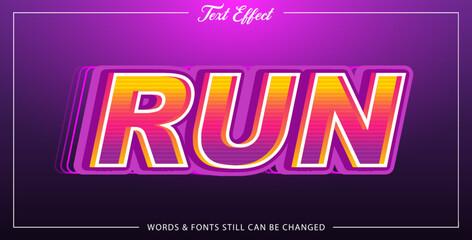 Wall Mural - Text effect run