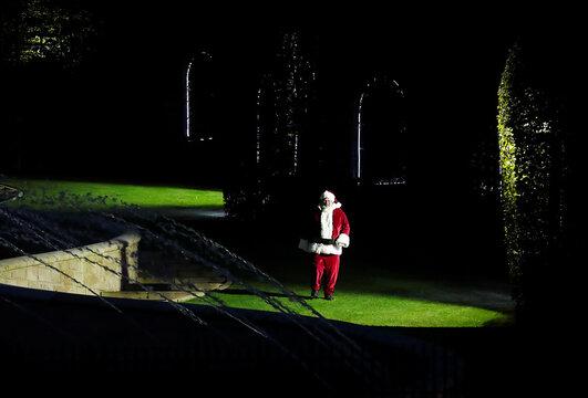 Christmas preparations begins at Alnwick Gardens, in Northumberland
