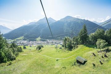 Photo sur Plexiglas Bleu jean Idyllic summer landscape in the Alps