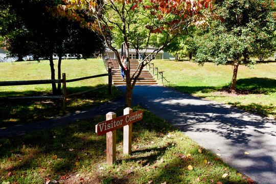 Visitor Center Sign, Leesylvania State Park, Woodbridge, Virginia