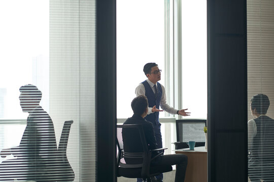 asian business people working in modern office
