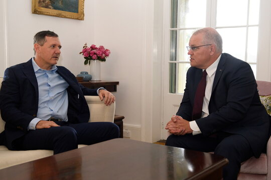 Australian Prime Minister Morrison meets with Northern Territory Chief Minister Gunner in Sydney