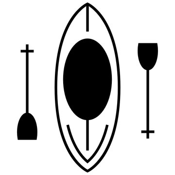 Canoe Rounded concept, Rafting boat vector icon design, Rescue Response Symbol on White background