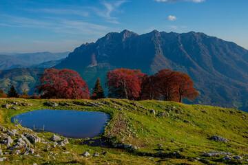 Photo sur Plexiglas Bleu jean mountain lake