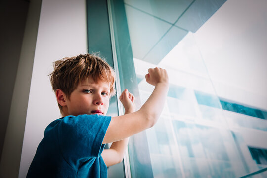 boy feeling anxiety and stress from social distancing