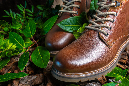 Men's genuine leather boots