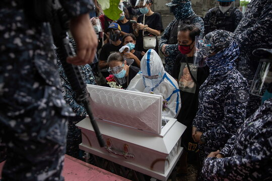 Burial of three-month-old baby separated from jailed mother